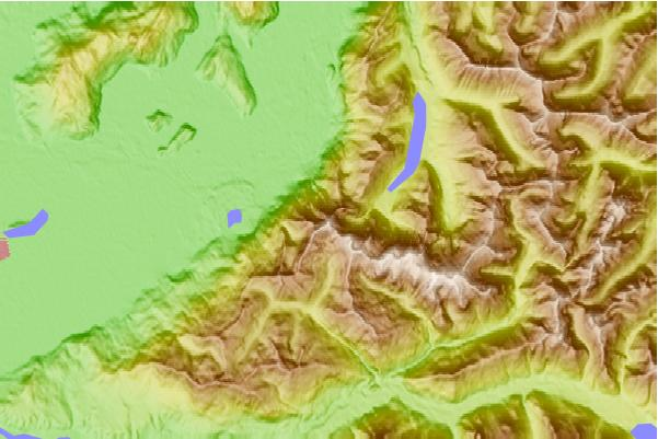 Surf breaks located close to Cheam Peak
