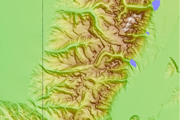 Surf breaks located close to Fossil Mountain (Wyoming)