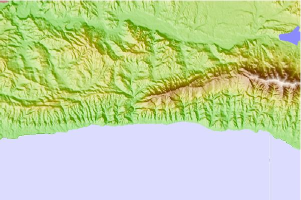 Surf breaks located close to Gaviota Peak