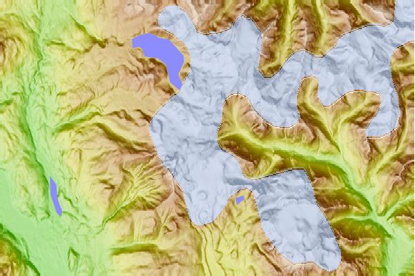 Surf breaks located close to Glacier Pikes