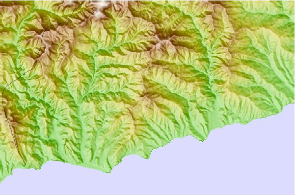 Surf breaks located close to Monte Bignone