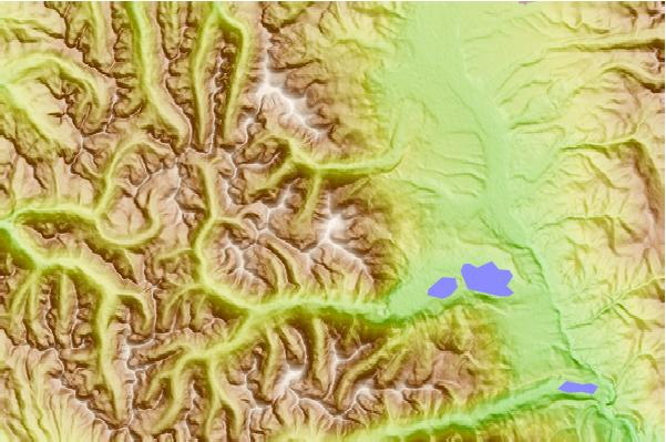 Surf breaks located close to Mount Elbert