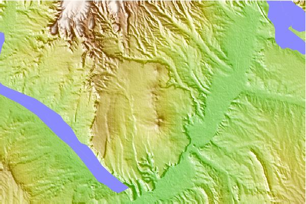 Surf breaks located close to San Felipe volcanic field