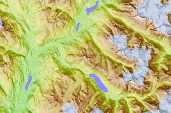 Surf breaks located close to Whistler Mountain (Fitzsimmons Range)