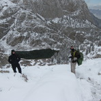 Above Mirror Lake on the Whitney Summit Trail, Mount Whitney