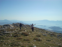 The view on the Corinthian gulf from Mt. Helicon's peak., Mount Helicon photo