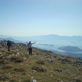 The view on the Corinthian gulf from Mt. Helicon's peak., Mount Helicon