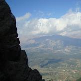 The view on Stymfalia valley from Oligyrtos