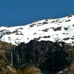 Sierra Nevada Volcano with waterfalls, Sierra Nevada (stratovolcano)
