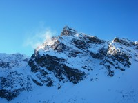 Kościelec peak in winter, Koscielec photo