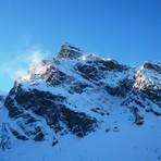 Kościelec peak in winter, Koscielec