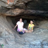 Dr. MALVIKA & Master KUBER  in the cave  where Lord Hanuman was born, Anjaneri