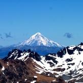 volcán lanín desde la cumbre del cerro atravesado, Volcan Lanin