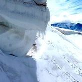 hielo en el atravesado