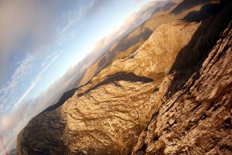 Paragliding flight above Barrslievenaroy
