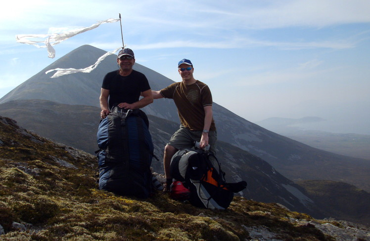 View from East Site paragliding take-off site, Croagh Patrick