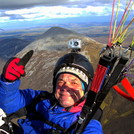 Paragliding XC flight at Croagh Patrick