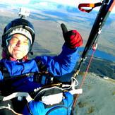 Soaring high above Croagh Patrick's summit
