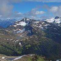 Caltha Peak from Tabletop Mountain photo