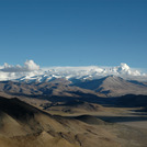 Mount Everest and Cho Oyu from Tingri