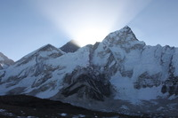sunrise over Nuptse and Sagarmatha photo