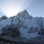 sunrise over Nuptse and Sagarmatha