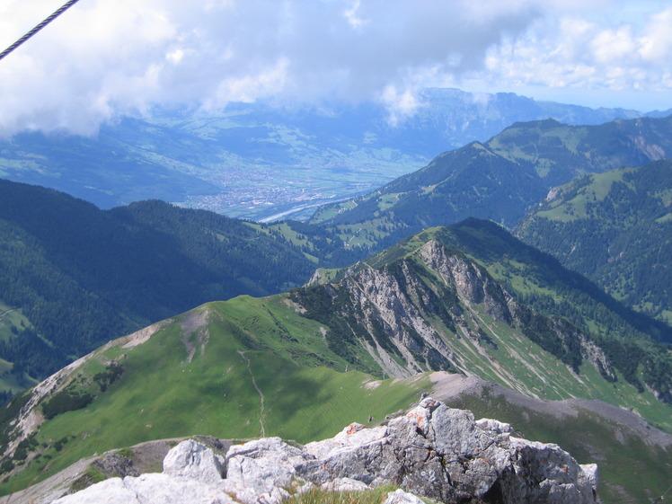 View of trail up to Augstenberg, Augstenberg (Liechtenstein)
