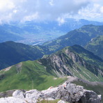 View of trail up to Augstenberg, Augstenberg (Liechtenstein)