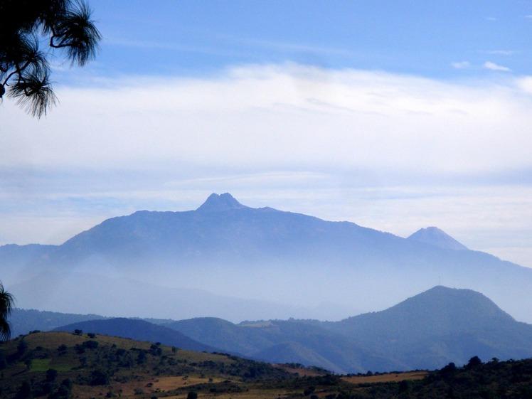 Silouttes view from Tapalpa, Nevado de Colima