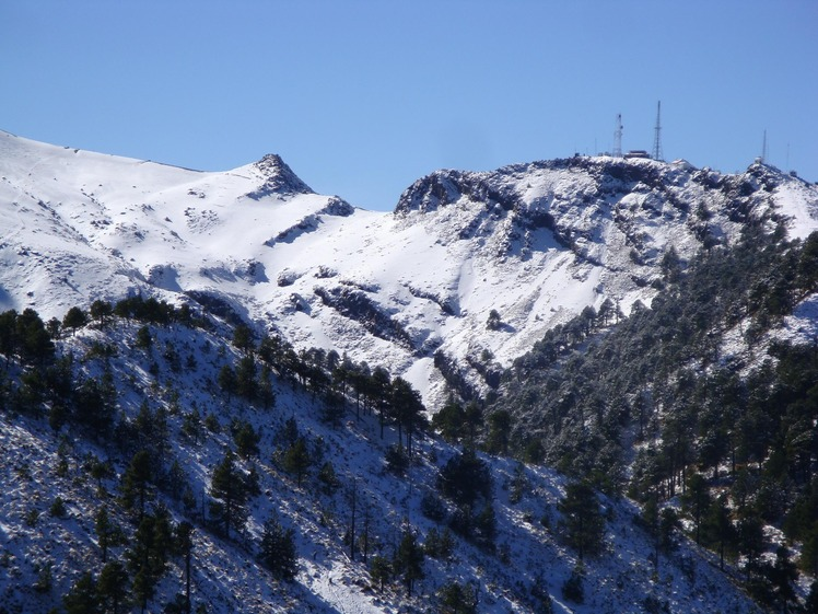 Climb to the peak, Nevado de Colima