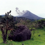 Fire Volcano ash and fumaroles, Nevado de Colima