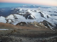 Camp 3 Colera from the White Rocks., Aconcagua photo