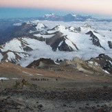 Camp 3 Colera from the White Rocks., Aconcagua