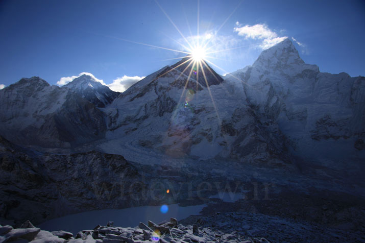Sunrise from the summit of Everest, Mount Everest