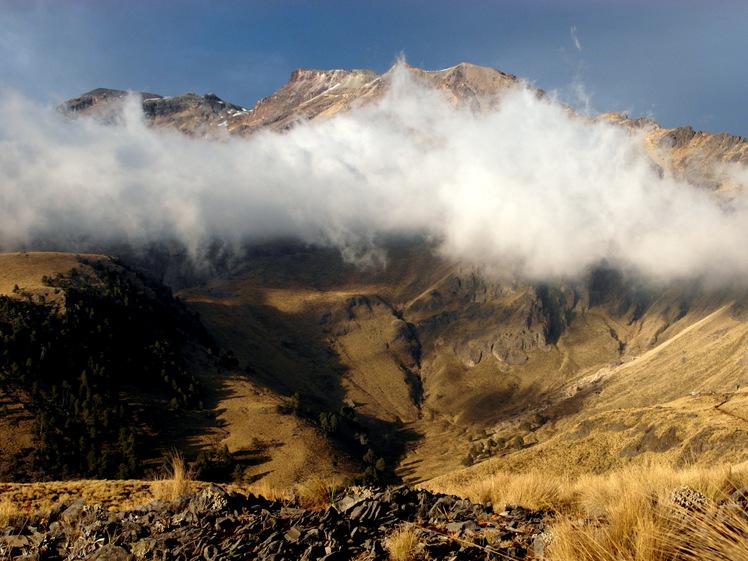 Iztaccihuatl in dry season