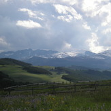 Looking at Cloud Peak from on the Bighorn Mountains