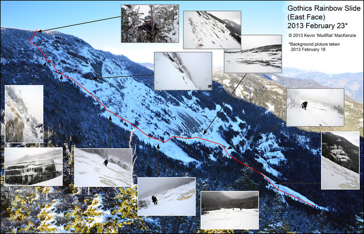 Mosaic of Gothics Rainbow Slide (East Face)