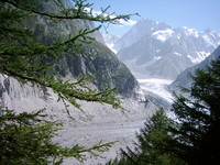 Mer de Glace, Grandes Jorasses photo