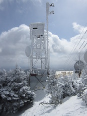 Tower on top of Killington Peak photo