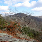 Brasstown Bald from Arkarqua Trail in Winter