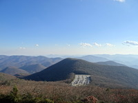 Brasstown Bald parking Area from Summit photo