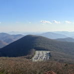 Brasstown Bald parking Area from Summit