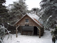 Roan High Knob Shelter in Winter photo