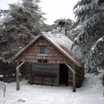 Roan High Knob Shelter in Winter