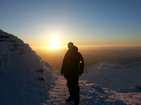Snowdon summit sunrise photo
