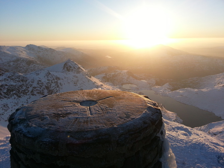 The view from the trig point, Snowdon