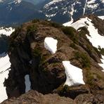 south ridge of Klitsa from summit, Klitsa Mountain