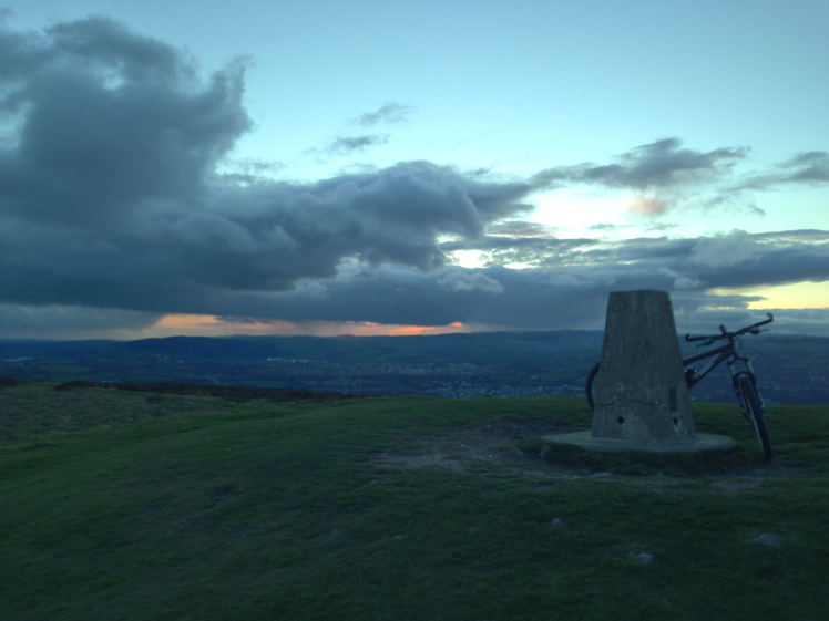 Stormy Sunset, Garth Mountain, Mynydd y Garth