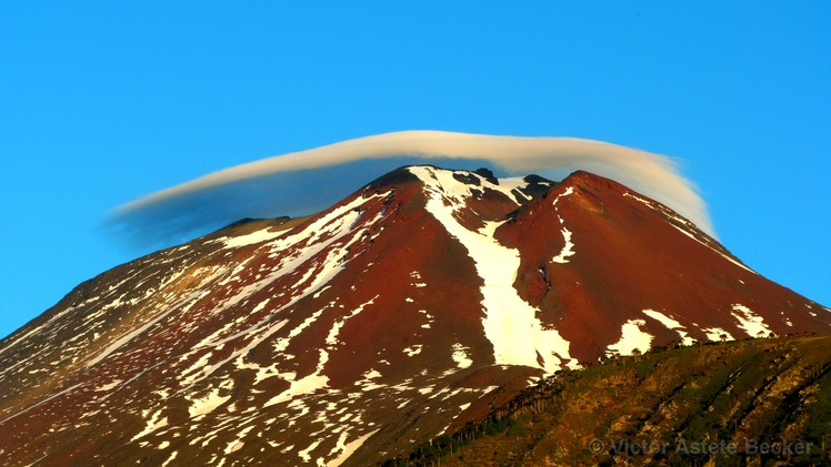 Lenticular Cloud over Lonquimay Volcano