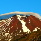 Lenticular Cloud over Lonquimay Volcano